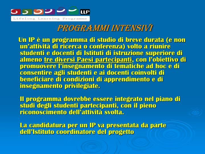Programmi intensivi