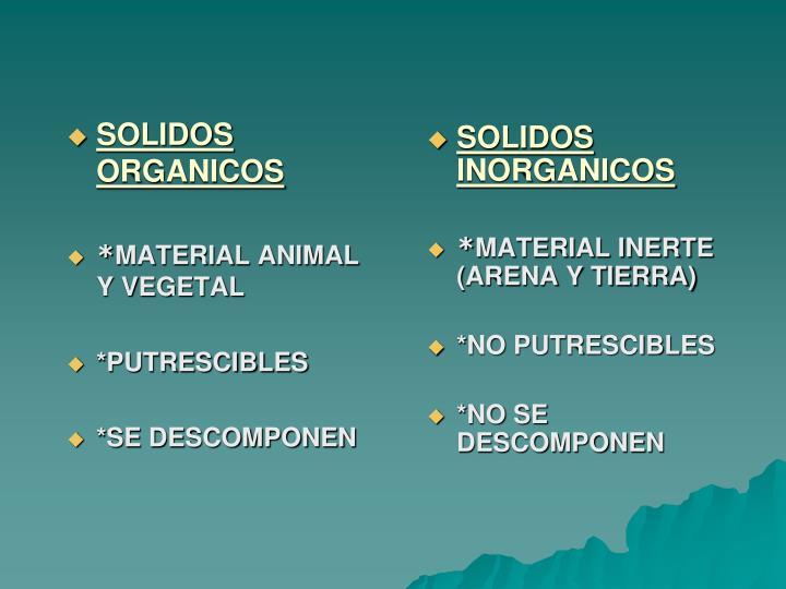 SOLIDOS ORGANICOS