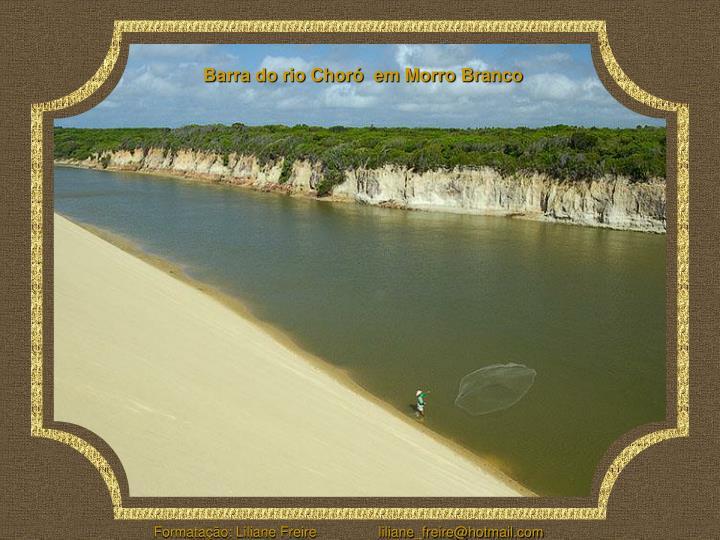 Barra do rio Choró  em Morro Branco