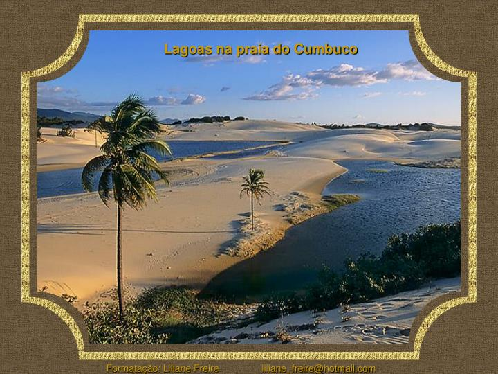 Lagoas na praia do Cumbuco