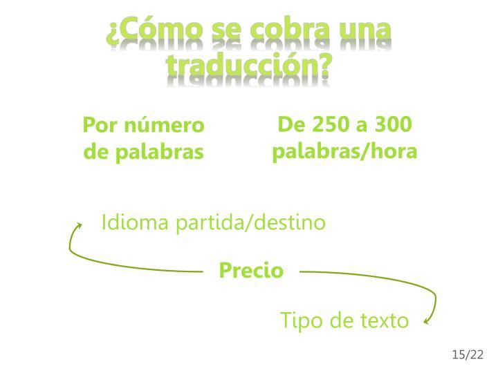 ¿Cómo se cobra una traducción?