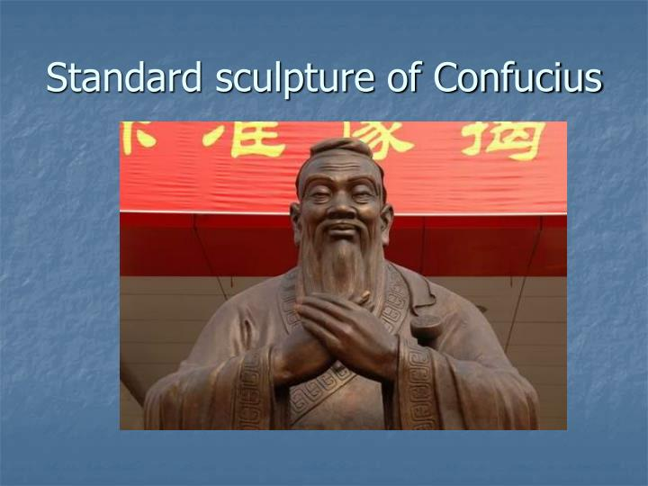 Standard sculpture of Confucius