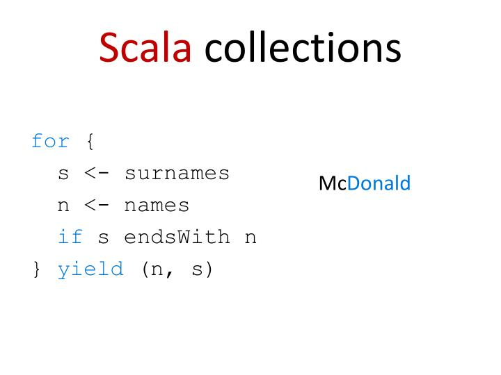 Scala collections