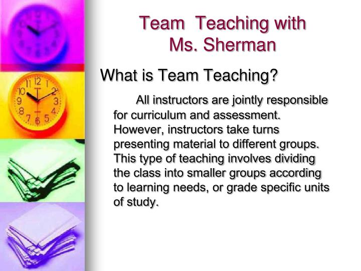 Team  Teaching with