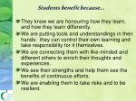 students benefit because
