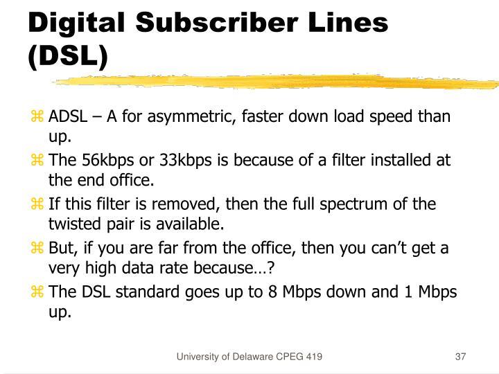 Digital Subscriber Lines (DSL)