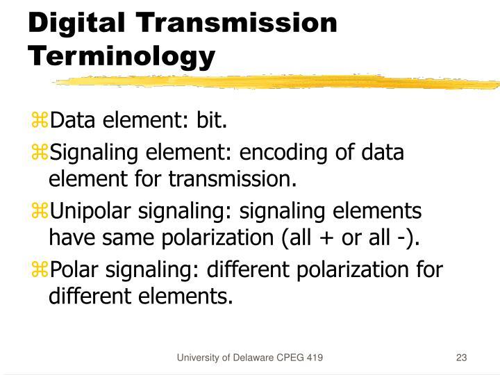 Digital Transmission Terminology