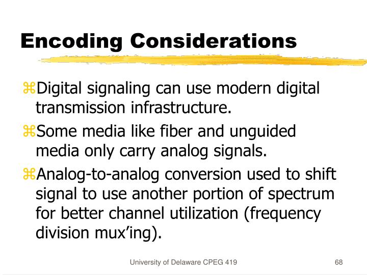 Encoding Considerations