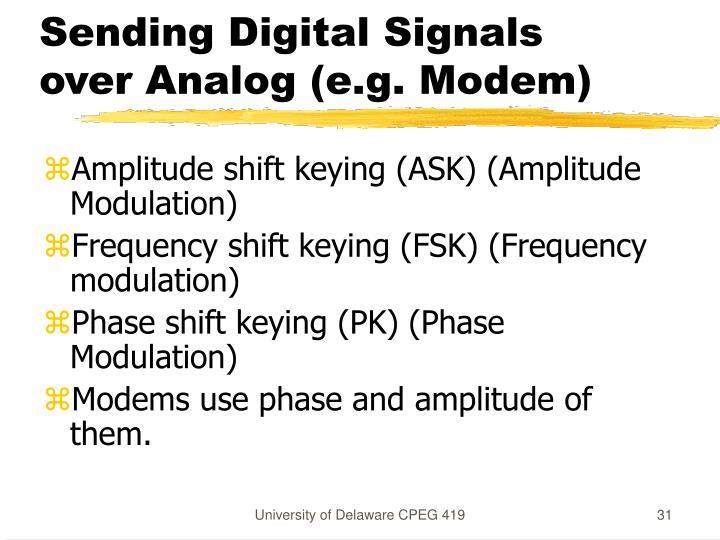 Sending Digital Signals over Analog (e.g. Modem)