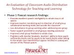an evaluation of classroom audio distribution technology for teaching and learning6
