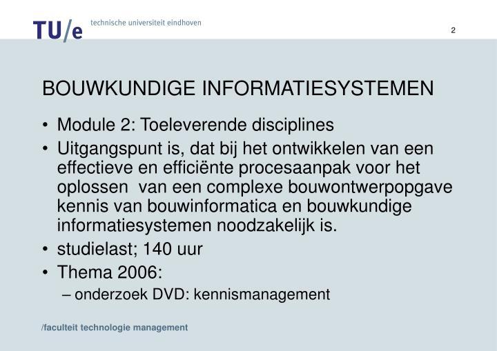Bouwkundige informatiesystemen