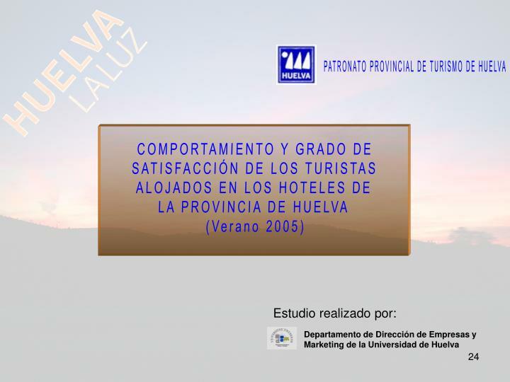 PATRONATO PROVINCIAL DE TURISMO DE HUELVA