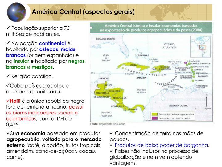 América Central (aspectos gerais)