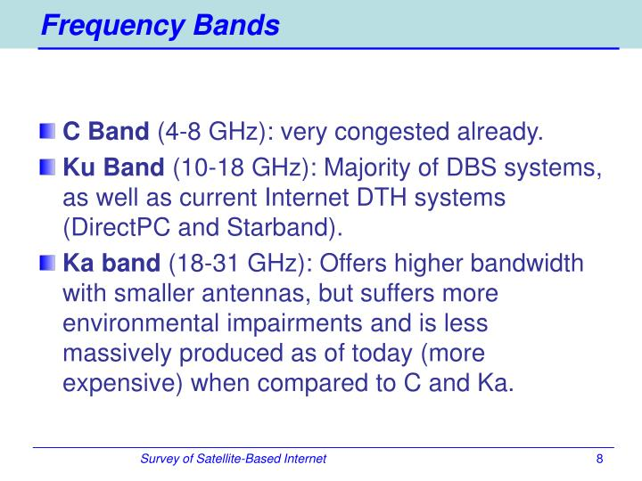 Frequency Bands