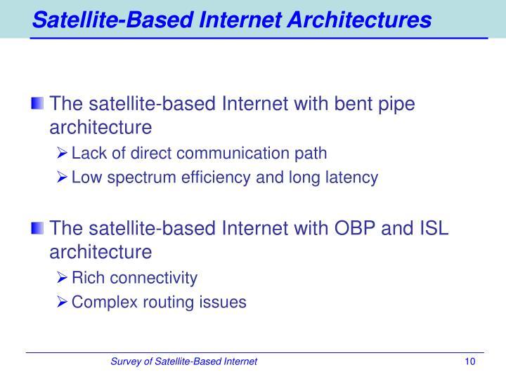 Satellite-Based Internet Architectures