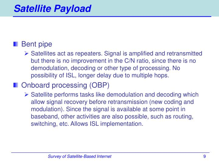 Satellite Payload