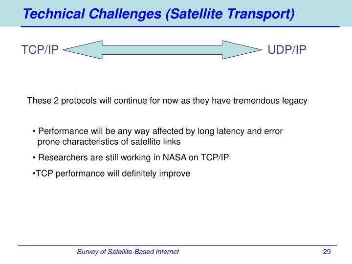Technical Challenges (Satellite Transport)