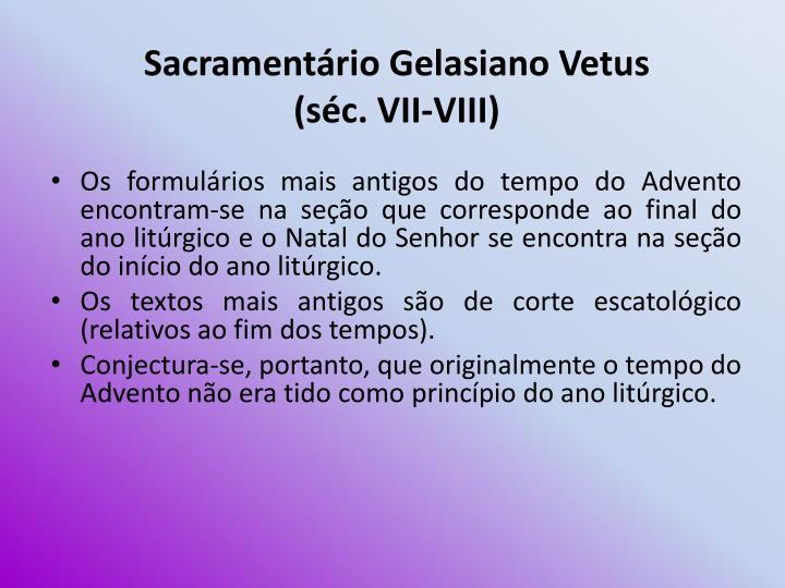 Sacramentário Gelasiano Vetus