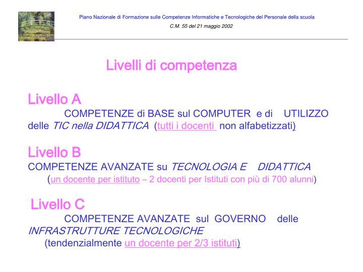 Piano Nazionale di Formazione sulle Competenze Informatiche e Tecnologiche del Personale della scuola