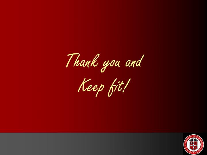 Thank you and