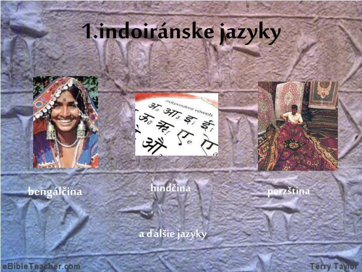 1.indoiránske jazyky
