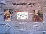 1 indoir nske jazyky