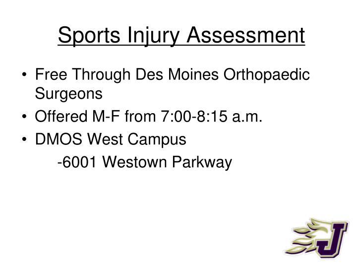 Sports Injury Assessment