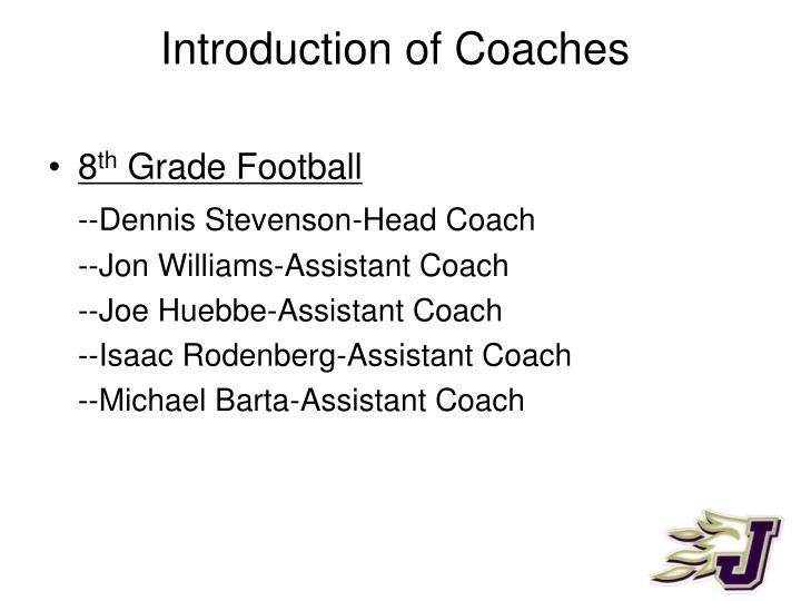 Introduction of coaches1
