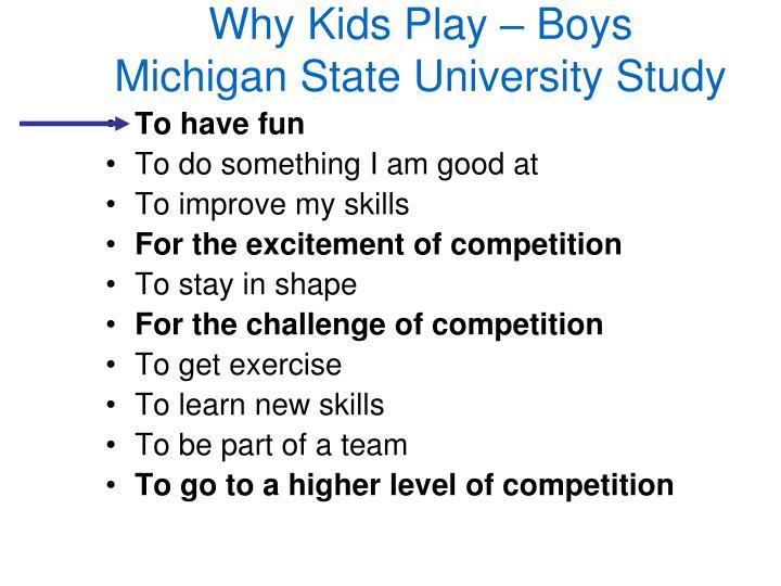 Why Kids Play – Boys