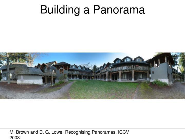 Building a Panorama