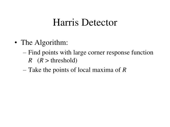 Harris Detector