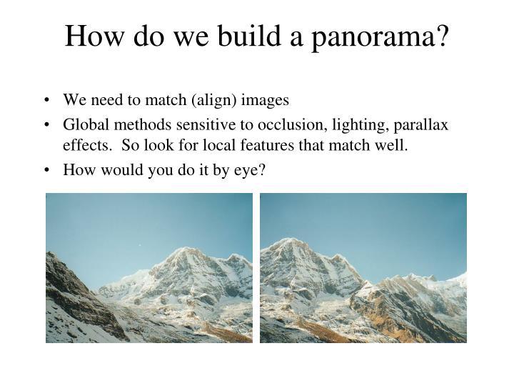 How do we build a panorama?