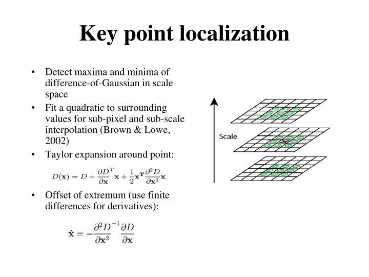 Key point localization