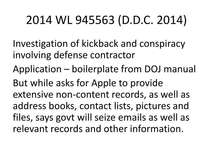 2014 WL 945563 (D.D.C. 2014)