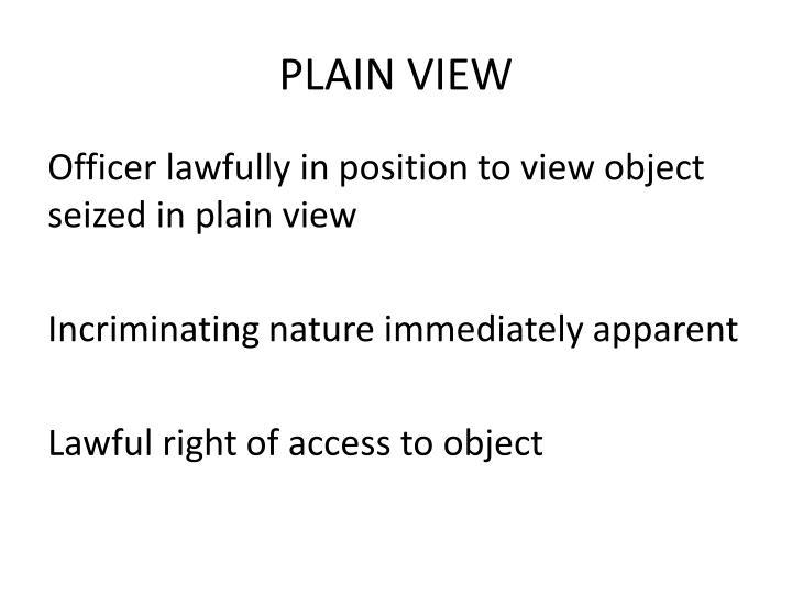 PLAIN VIEW
