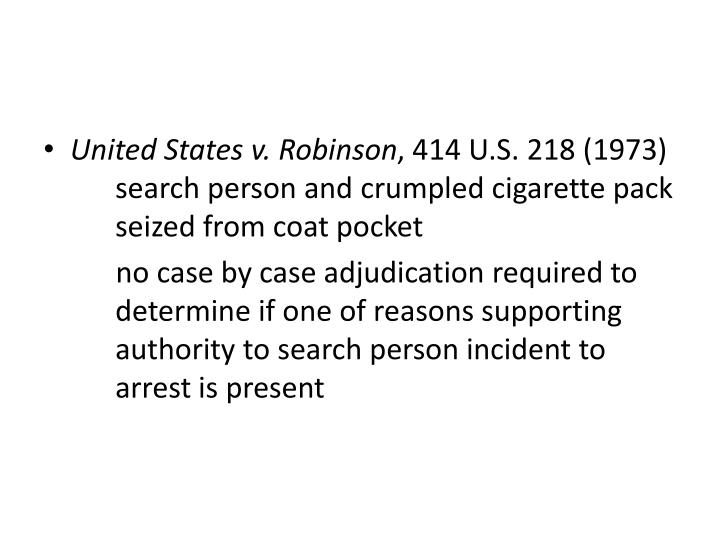 United States v. Robinson