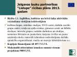 jelgavas lauku partner bas lielupe r c bas pl ns 2013 gadam
