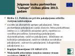 jelgavas lauku partner bas lielupe r c bas pl ns 2013 gadam2