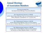 annual meetings of association members