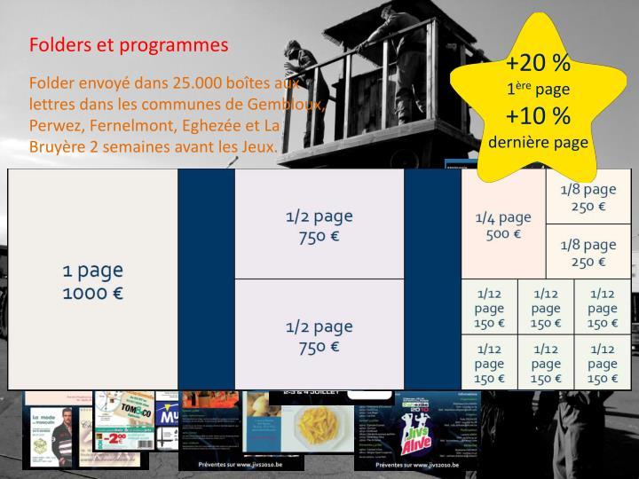 Folders et programmes