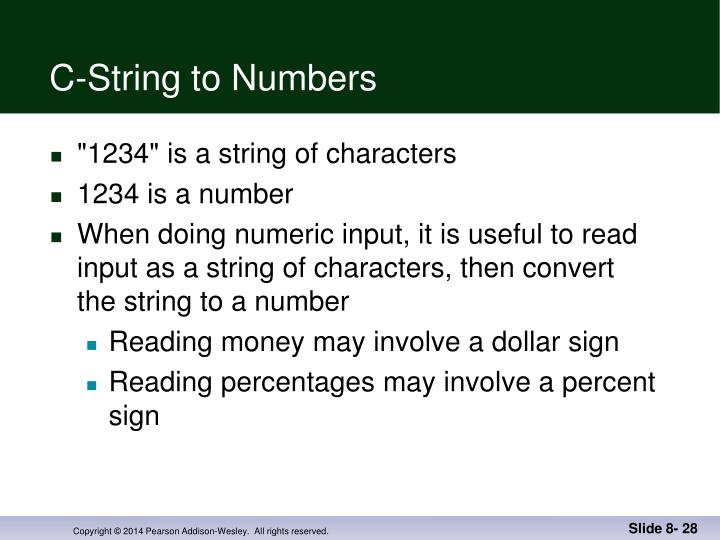 C-String to Numbers