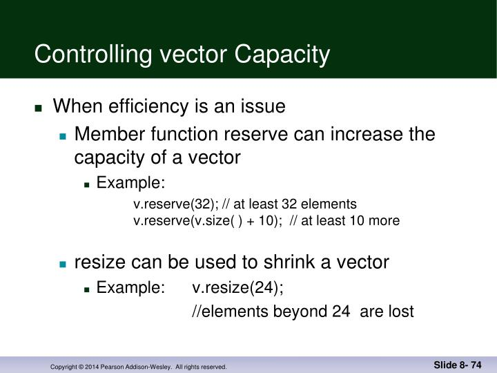 Controlling vector Capacity