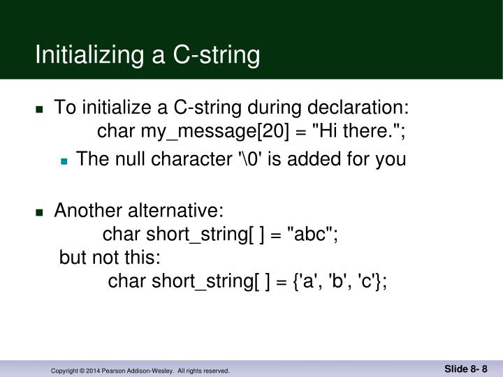 Initializing a C-string