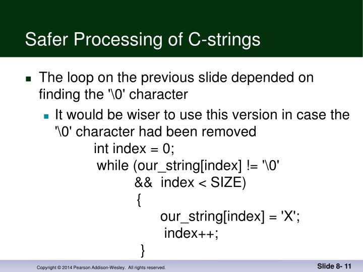 Safer Processing of C-strings