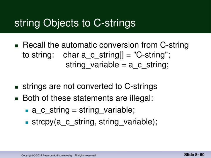 string Objects to C-strings