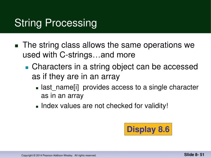 String Processing