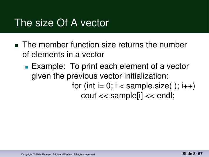 The size Of A vector