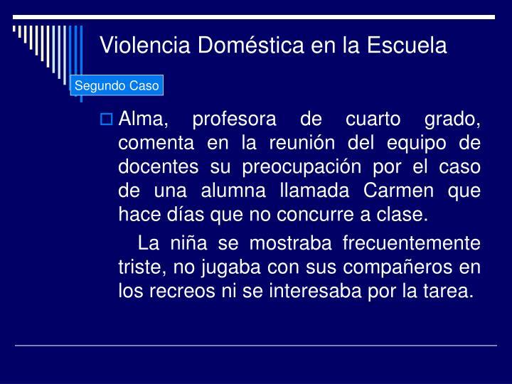 Violencia Doméstica en la Escuela