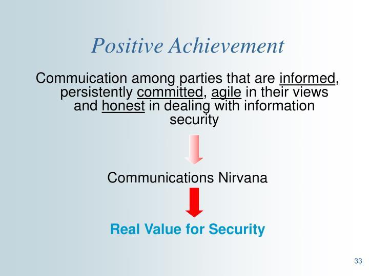 Positive Achievement
