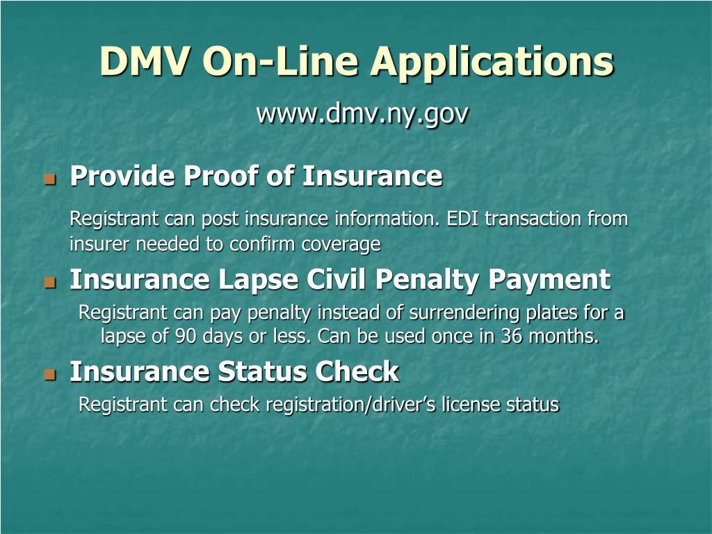 Returning Plates To Dmv Ny >> Ppt Nys Dmv Insurance Information Enforcement Powerpoint